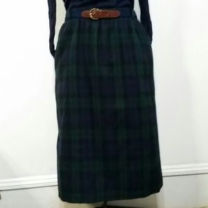 Vintage Wool Midi Skirt - F. Shay of Boston